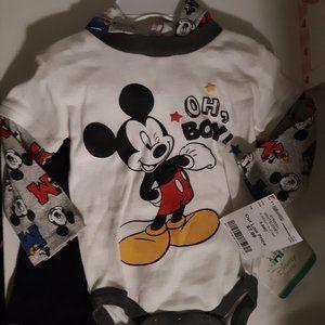 2 Piece Baby Boys Mickey Mouse set